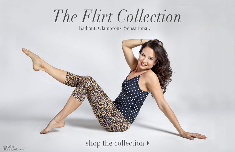 Introducing the Flirt Yoga Collection, featuring Tiffany Cruikshank