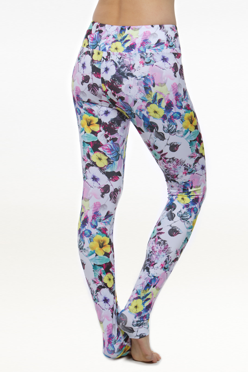 Grace Hibiscus Yoga Tight
