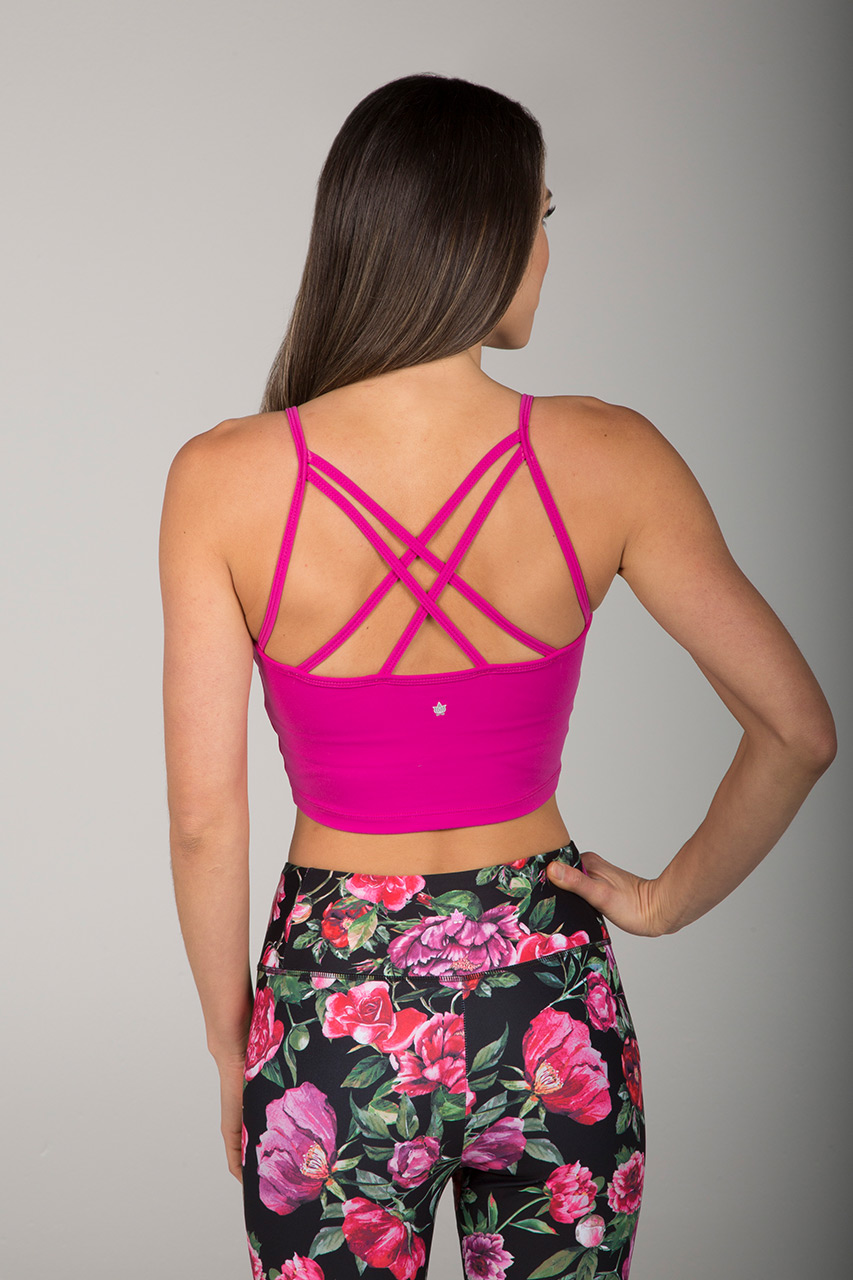 Grace En Pointe Crop Top - Fuchsia