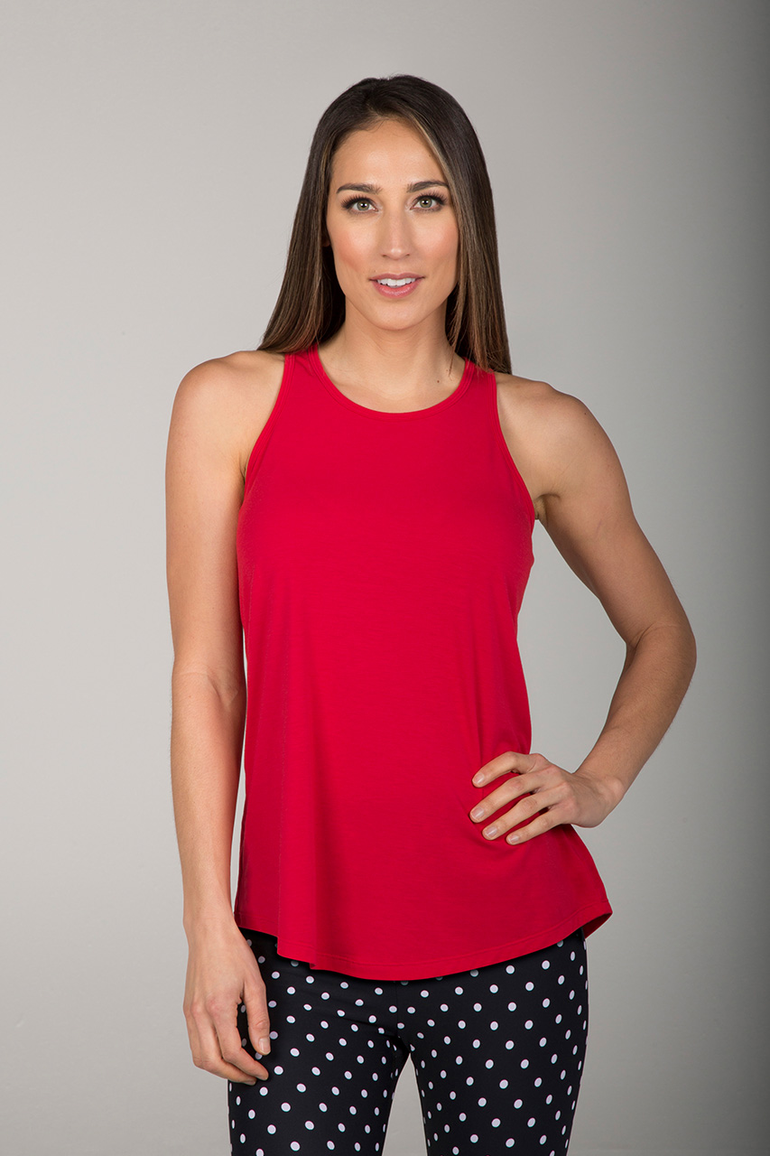 Long & Loose Racerback - Ruby