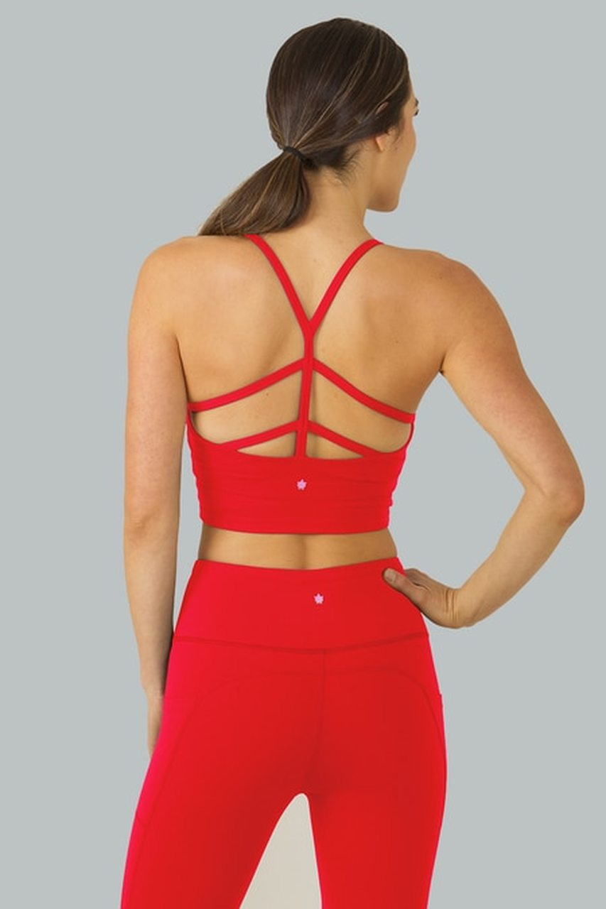 Warrior Y-Back Crop Top (Ruby)