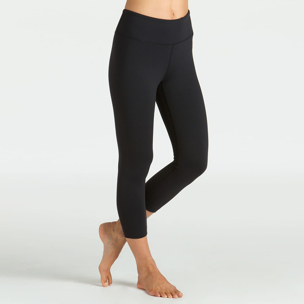 Grace High-Waisted Yoga Capri in Black