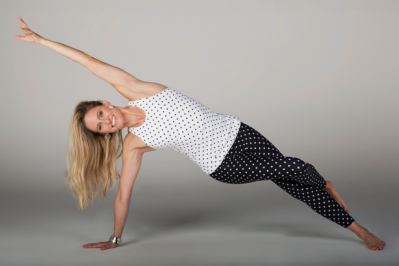 Grace Vinyasa Racerback - White Dot