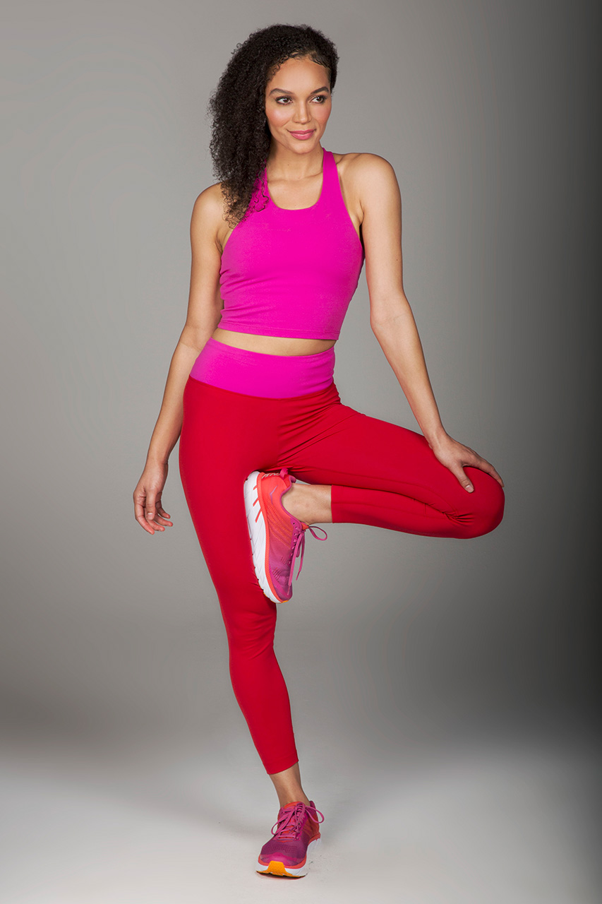 Grace Ultra High Waist 7/8 Legging - Fuchsia/Ruby