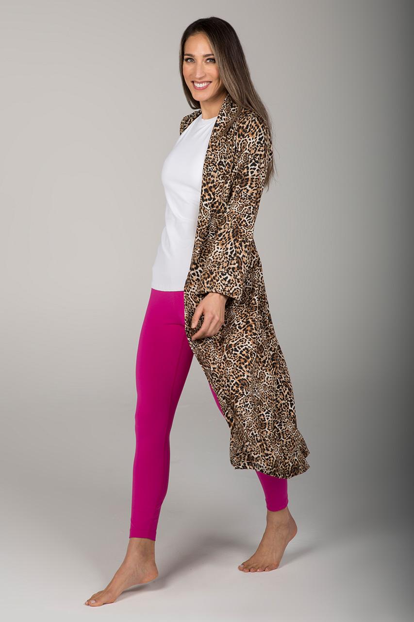 Kathryn Yoga Duster - Leopard