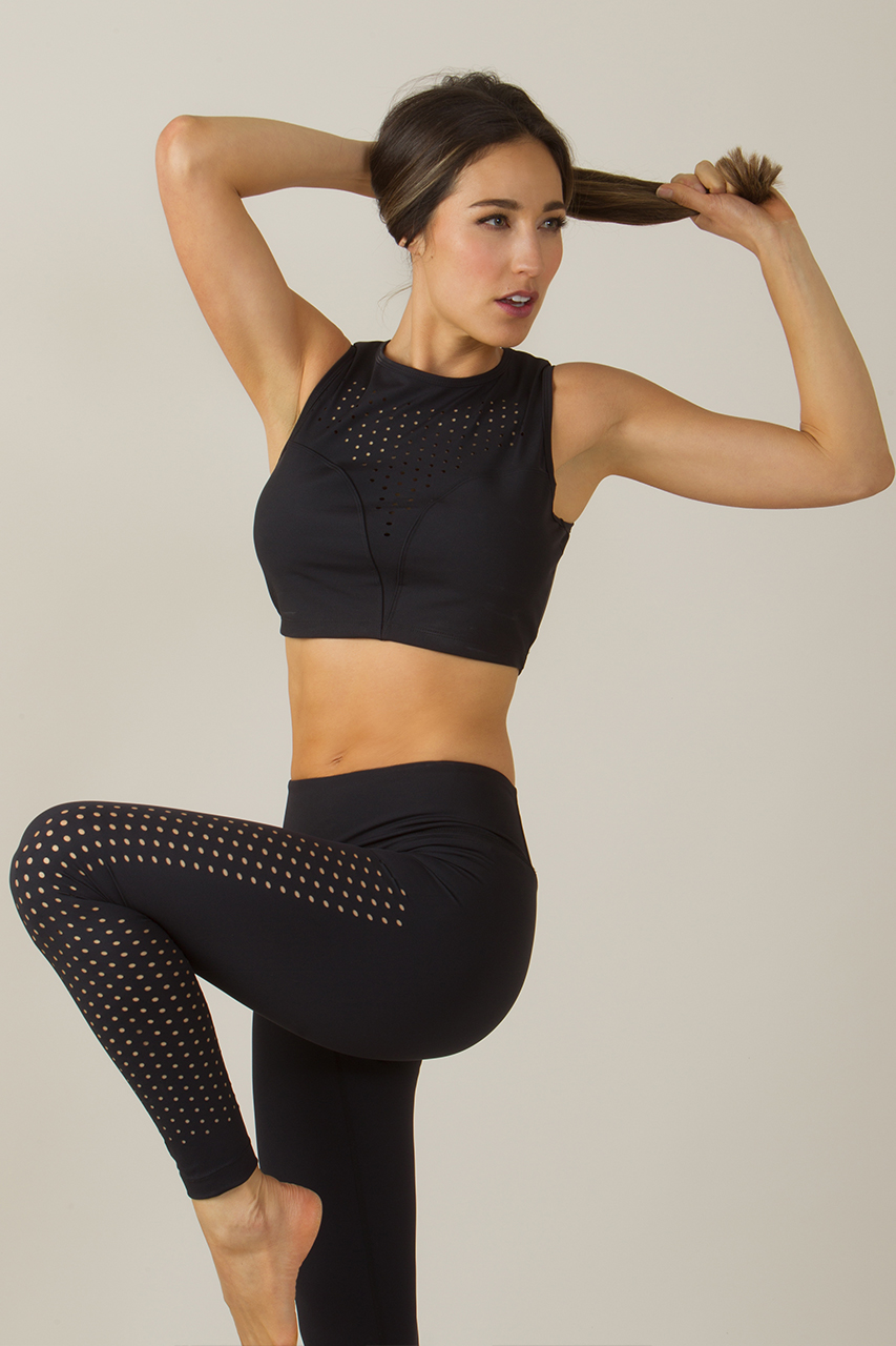 Laser-Cut Dot Yoga Legging