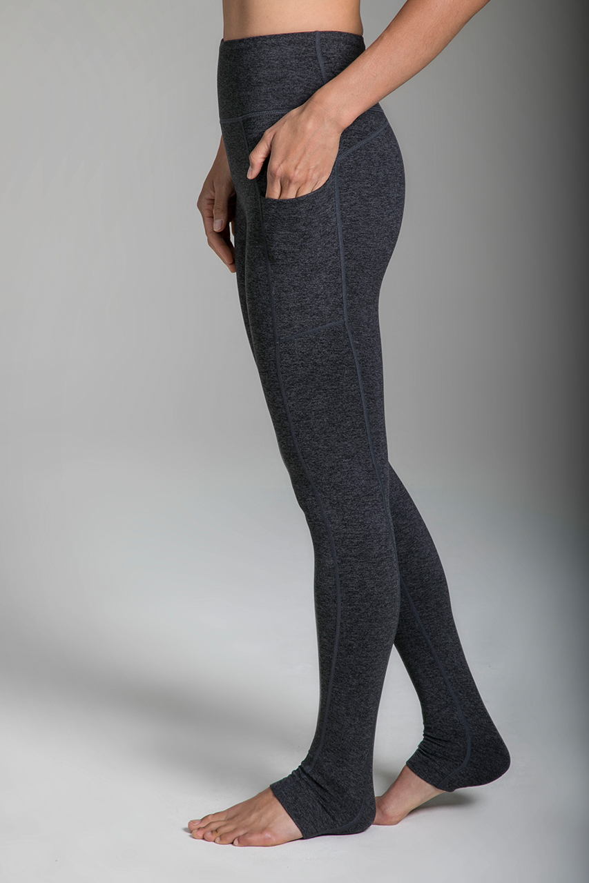 Pocket Yoga Legging in Charcoal Heather