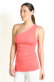 The Goddess One Shoulder in Coral