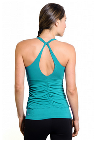 The Goddess Luxe Shirred T-Back in Capri Breeze