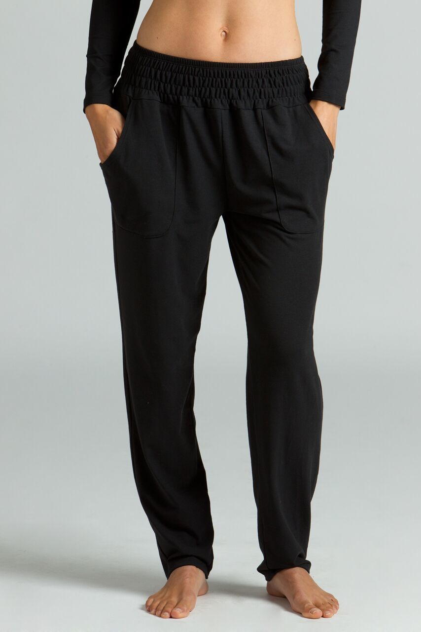 Knit Slouchy Pant in Black